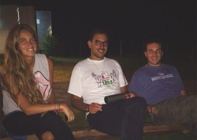Francoise, Felipe y Francisco Yobino